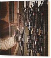 A Marine Pulls An M-4 Rifle Wood Print