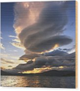A Massive Stacked Lenticular Cloud Wood Print by Arild Heitmann