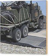A Medium Tactical Vehicle Replenishment Wood Print