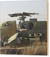 A Mi-35 Attack Helicopter At Kunduz Air Wood Print
