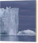 A Midnight Cruise Around The Ilulissat Wood Print