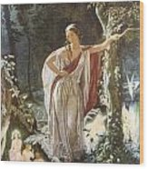 A Midsummer Night's Dream Hermia And The Fairies Wood Print