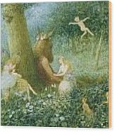 A Midsummer Night's Dream Wood Print by HT Green