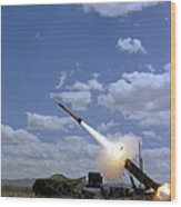 A Mim-104 Patriot Anti-aircraft Missile Wood Print