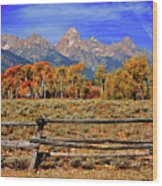 A Moment In Wyoming In Autumn Wood Print