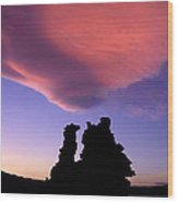A Mono Lake Sunset Wood Print
