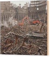 A Month After The Terrorist Attacks Wood Print