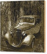 A More Elegant Time In Sepia Wood Print