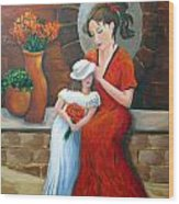 A Mothers Love Wood Print