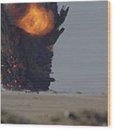 A Munitions Disposal Explosion Wood Print