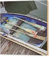 A Neat Boat Wood Print by Hiroko Sakai