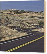 A Newly Paved Winding Road Up A Slight Wood Print