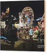 A Night At The Carnival Wood Print