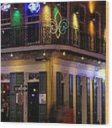 A Night In The French Quarter Wood Print