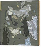 A Nightly Knight Wood Print