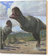 A Pair Of Pycnonemosaurus Nevesi Wood Print