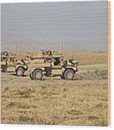 A Pair Of U.s. Army Cougar Mrap Wood Print