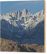 A Panoramic View Of Mount Whitney Wood Print