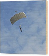 A Paratrooper Of The Belgian Army Wood Print by Luc De Jaeger
