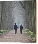 A Peaceful Stroll Wood Print