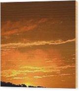 A Peeking Sunrise Wood Print