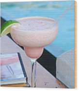 A Pink Sand Margarita Wood Print by Hibberd, Shannon