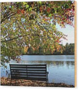 A Place For Thanks Giving Wood Print