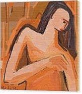 A Portrait Of A Woman Wood Print
