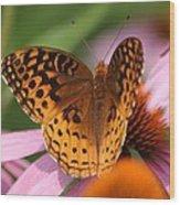A Pretty Flying Flower Wood Print