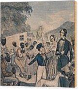 A Pro-slavery Portrayal Wood Print by Everett