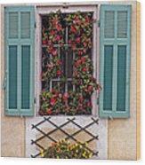 A Provence Window Wood Print