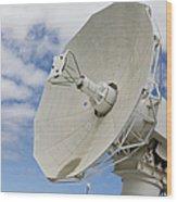 A Radar Dish Aboard Mobile At-sea Wood Print