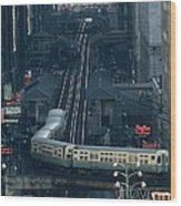 A Railway Encircles Thirty-five Blocks Wood Print