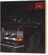 A Red Cadillac Wood Print