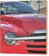 A Red Chevy Wood Print