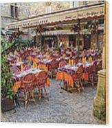 A Restaurant In Sarlat France Wood Print