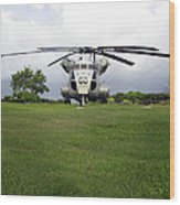 A Rh-53d Sea Stallion Helicopter Wood Print by Michael Wood