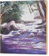 A River Runs Through Wood Print