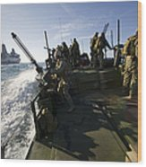 A Riverine Squadron Conducts Security Wood Print