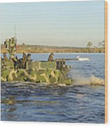 A Riverine Squadron Maneuvers Wood Print