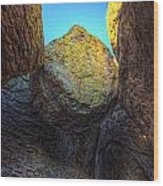 A Rock Balanced Precariously Wood Print