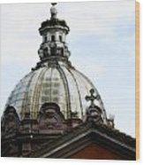 A Roman Church And Dome Wood Print