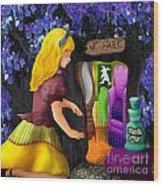 A Room In Wonderland  Wood Print by Lois Mountz