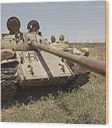 A Russian T-55 Main Battle Tank Wood Print