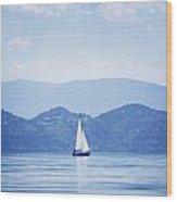 A Sailboat Wood Print