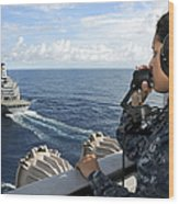 A Sailor Stands Forward Lookout Watch Wood Print