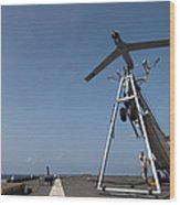 A Scan Eagle Unmanned Aerial Vehicle Wood Print