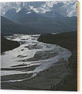 A Scenic View Of The Matanuska River Wood Print