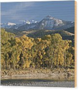A Scenic View Of The Yellowstone River Wood Print