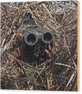 A Scout Observer Practices Observation Wood Print